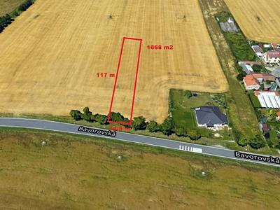 Prodej  stavebního pozemku 1668m²
